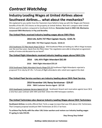 Southwest Wages vs United Wages