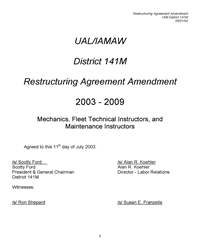 2005-2009 UAL Mechanics CBA