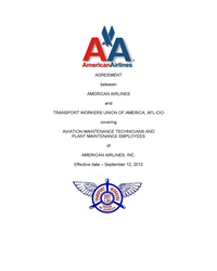 2012 AMR Techs Bankruptcy Contract