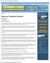 failing teamsters pensions